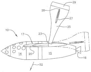 Winged spacecraft patent drawing