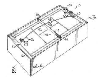 Miniature tennis patent
