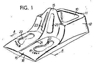 Child's toilet pot patent drawing