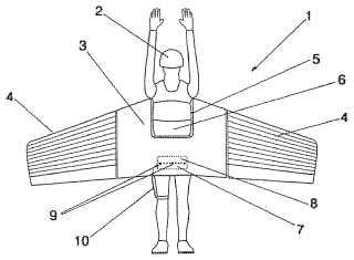 Pneumatic gliding wing