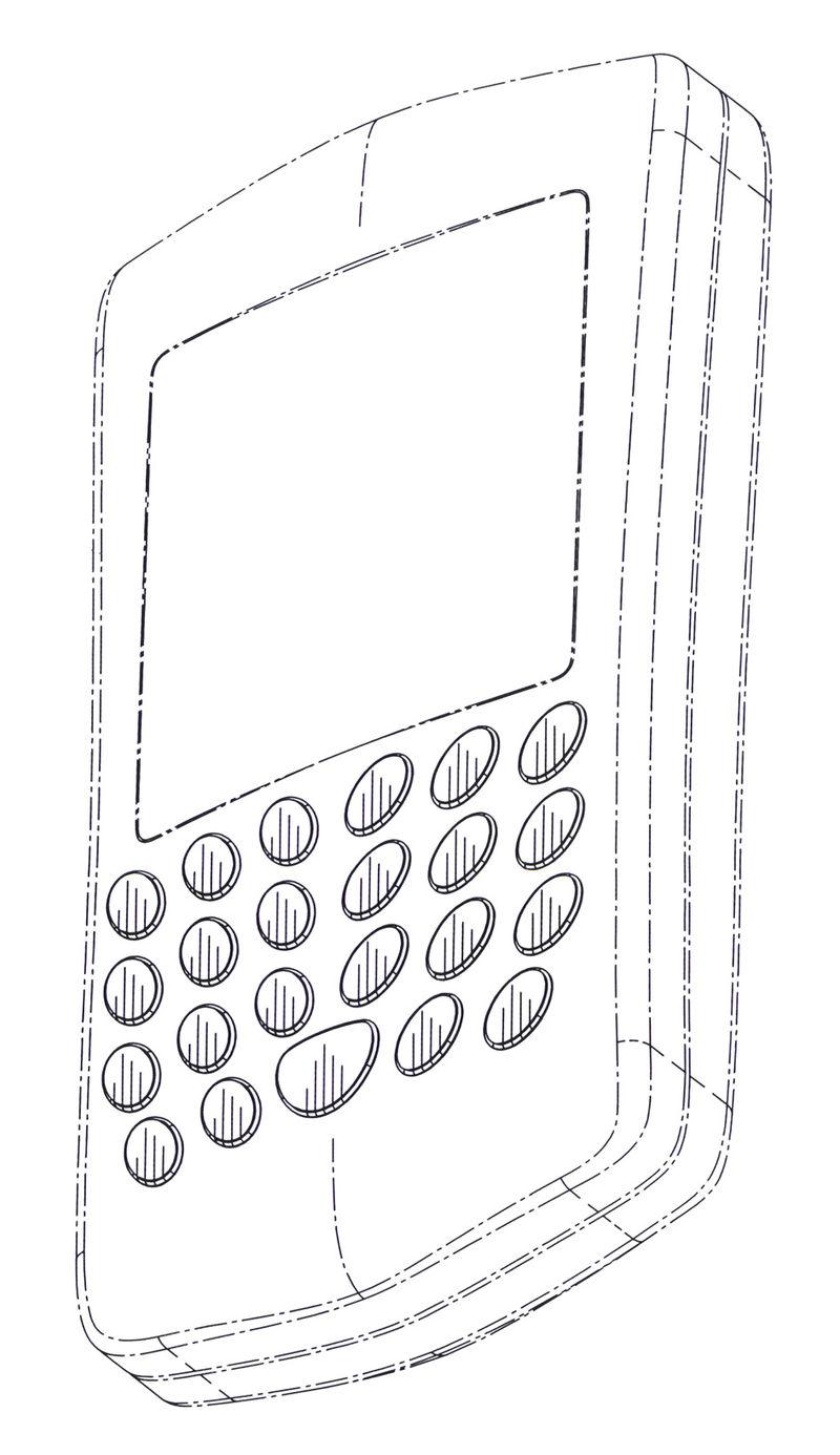Look of a Blackberry model