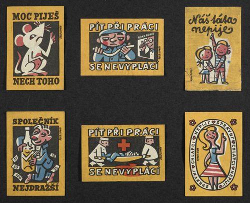 60's Czech matchboxes