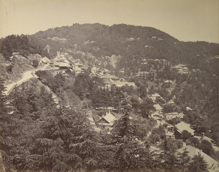 Simla - general view 1860s