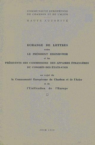 Letters between eisenhower on Coal & Steel