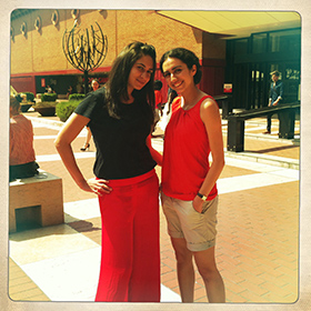 British Library Summer_Readers Neda and Areej
