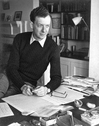 Britten at home in about 1949