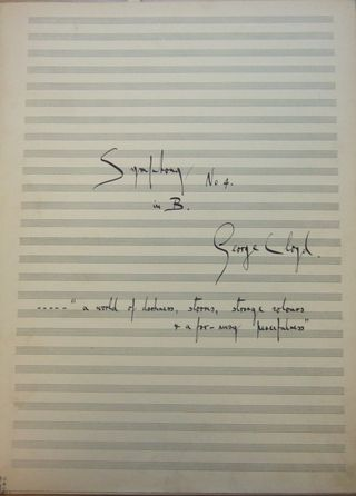 Title page of George Lloyd's Fourth Symphony