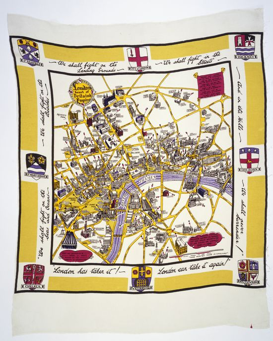 London can take it 1940's scarf (c) Museum of London