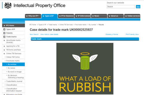 Rubbish_trademark