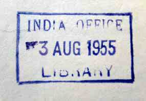 Type 4 India Office stamp