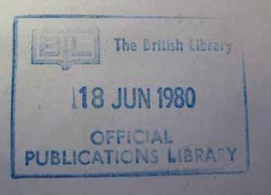 Type 4 Document Supply Centre stamp