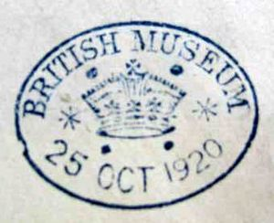 Type 2 British Museum stamp