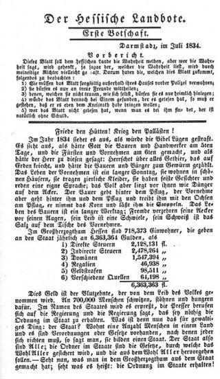 Büchner Landbote