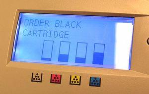 CMYK ink levels in printer