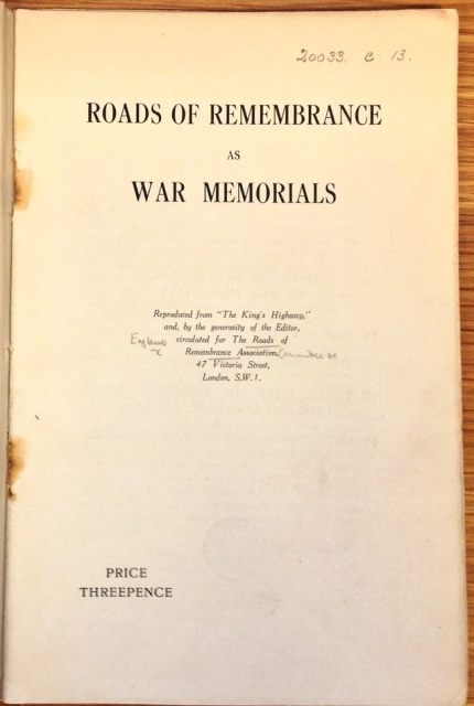 SMALL Roads of Remembrance title page crop (2)