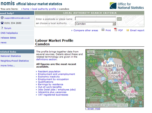 Nomis official labour market statistics