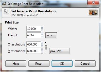 Set Image Print Resolution