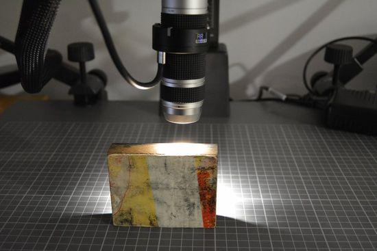 Microscopy of wood block