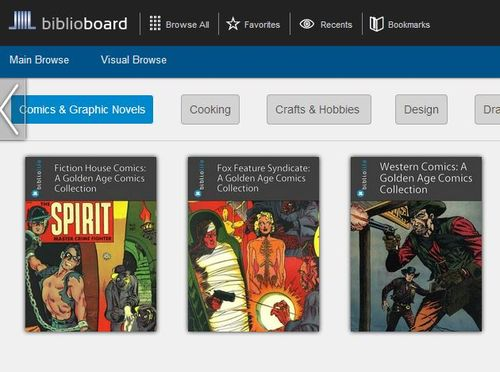 Biblioboard screen grab