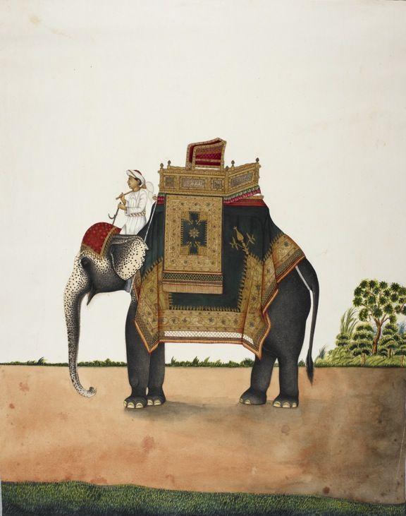 Elephant bearing howdah