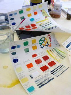 Colour sample sheet