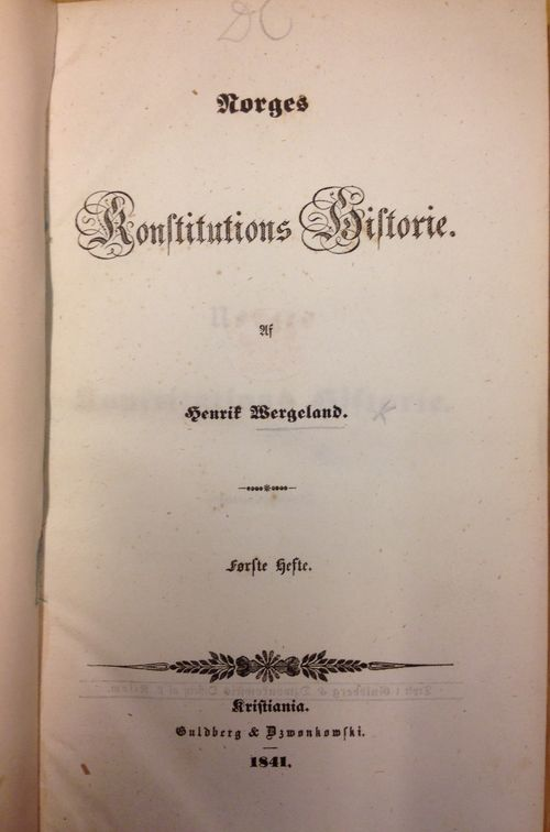 Norges Konstitutions Historie(BH)