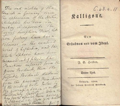 Coleridge Kalligone