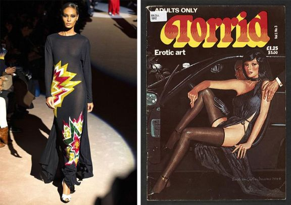 Tom Ford Fall Winter 2013_Torrid Erotic Art 1979_Erich von Gotha_Robin Ray
