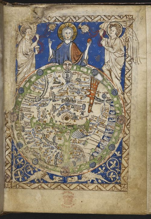 A Well Travelled Medieval Map Medieval Manuscripts Blog