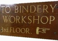 To the bindery workshop!