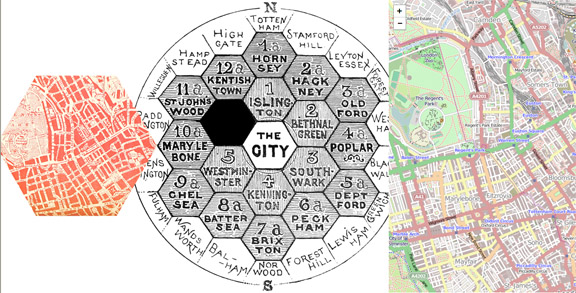 Hexagon map images - web