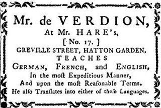 Mr de Verdion