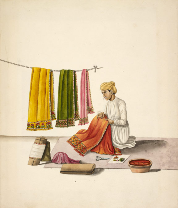 Shawl-embroiderer