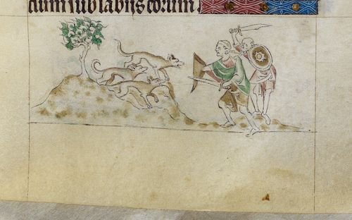 Royal MS 2 B VII f. 96r dog-size ants G70031-02a