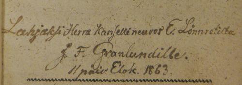 Lonnrot inscription