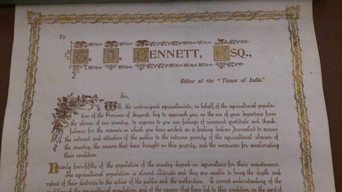 Bennett letter