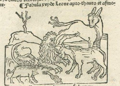 Aesop Augsburg 1480 Lion
