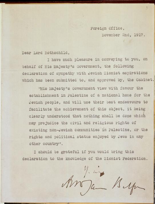 Balfour Declaration 013028