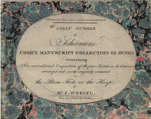 Schirmer's MS collection