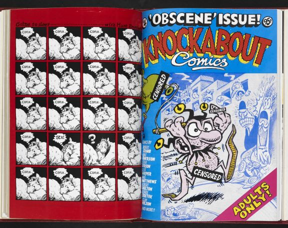 Knockabout Comics, 1984, no.4 'Obscene' issue (c) Hunt Emerson. Published by Knockabout Comics