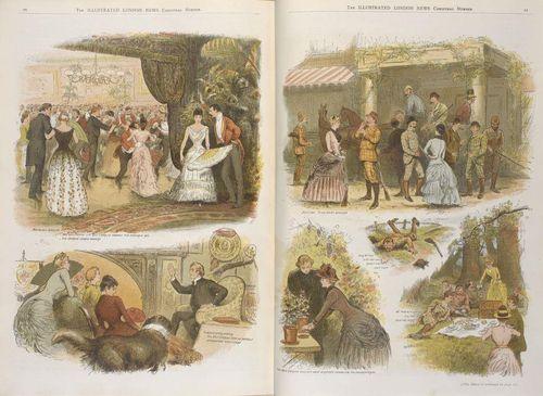 Illd Ldn News 1888 Xmas Miss Pettifers Diary
