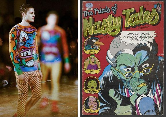 Jeremy Scott AW14_The Trials of Nasty Tales 1973 Dave Gibbons and Richard Adams