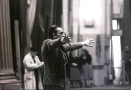 Visconti rehearsing
