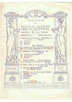 Ruhleben programme 12 Dec 1915