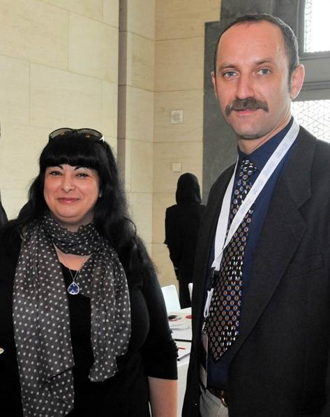 Dr Stavroula Golfomitsou and Flavio Marzo