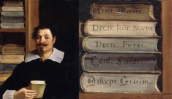 Books depicted in art