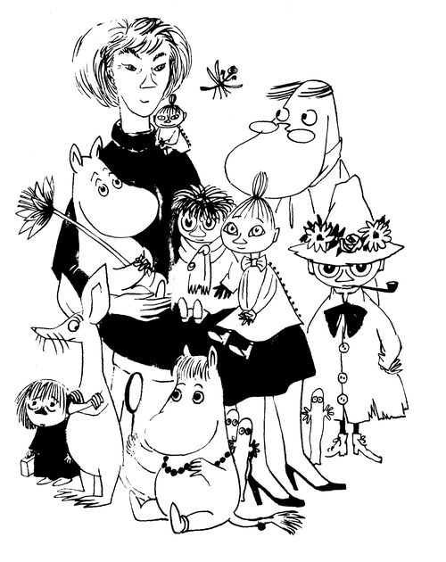 Self-portrait with Moomins