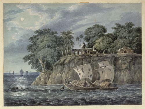 WD4404 fol 16 On the Ganga by moonlight