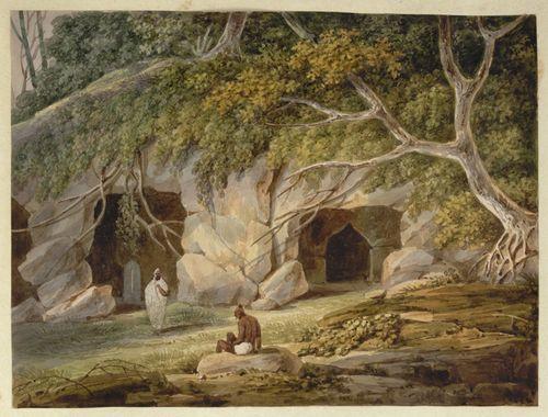 WD4404 fol 17 Caves at Patharghata
