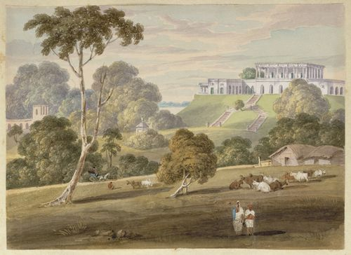 WD4404 fol 23 Hill house at Bhalpur from the south-east